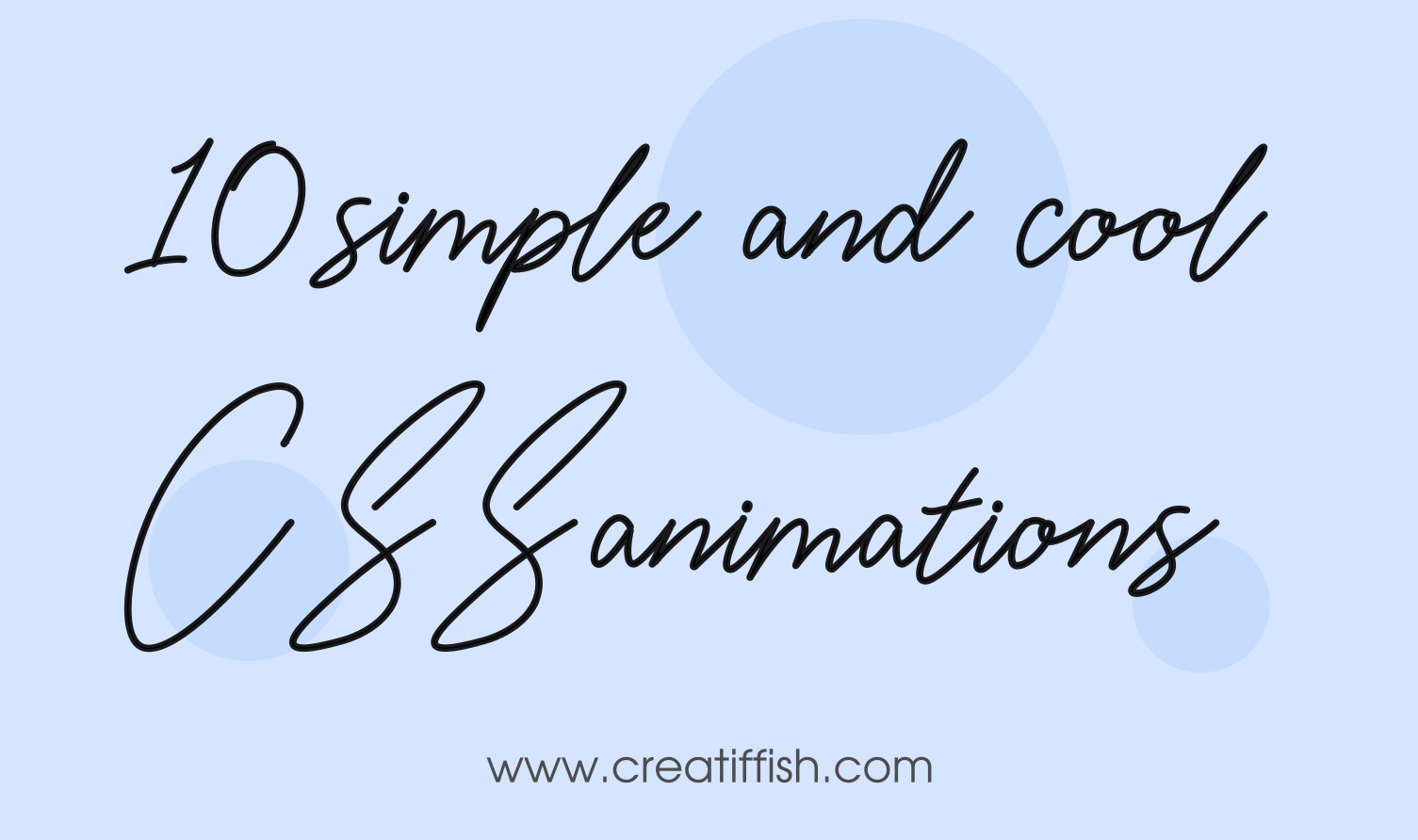 20 simple and cool CSS animation examples and source codes to use in your website