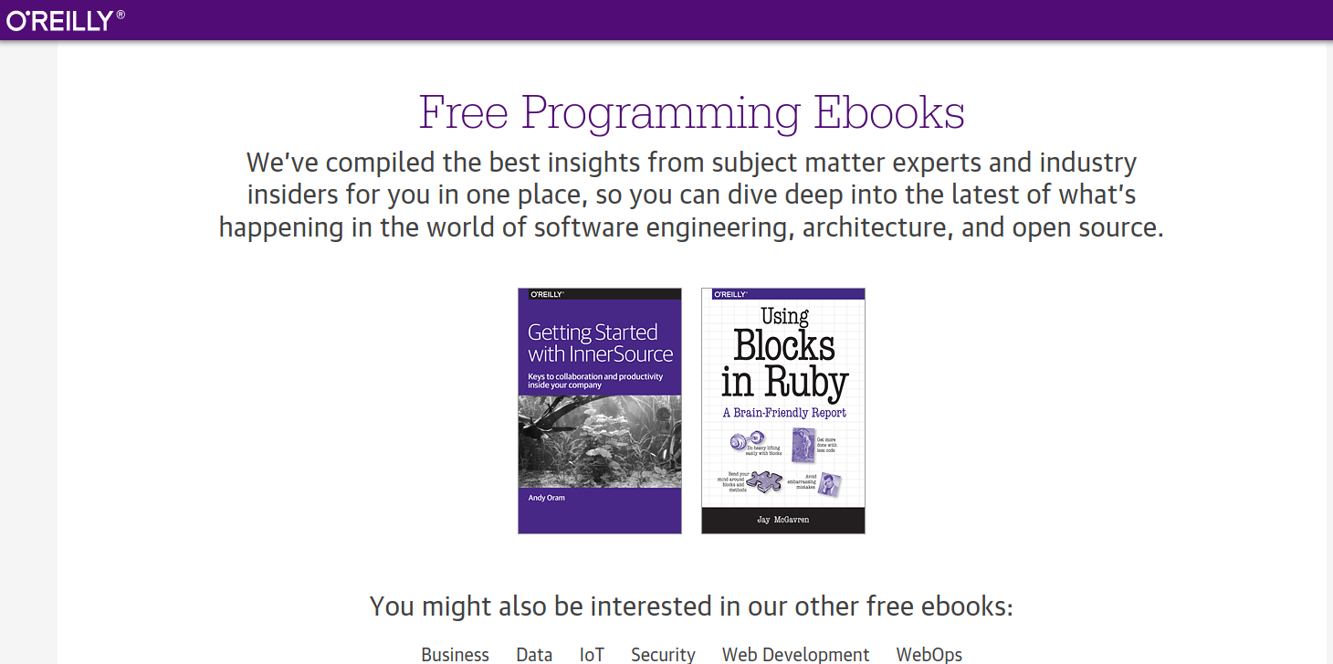 Free Programming Ebooks - O'Reilly Media
