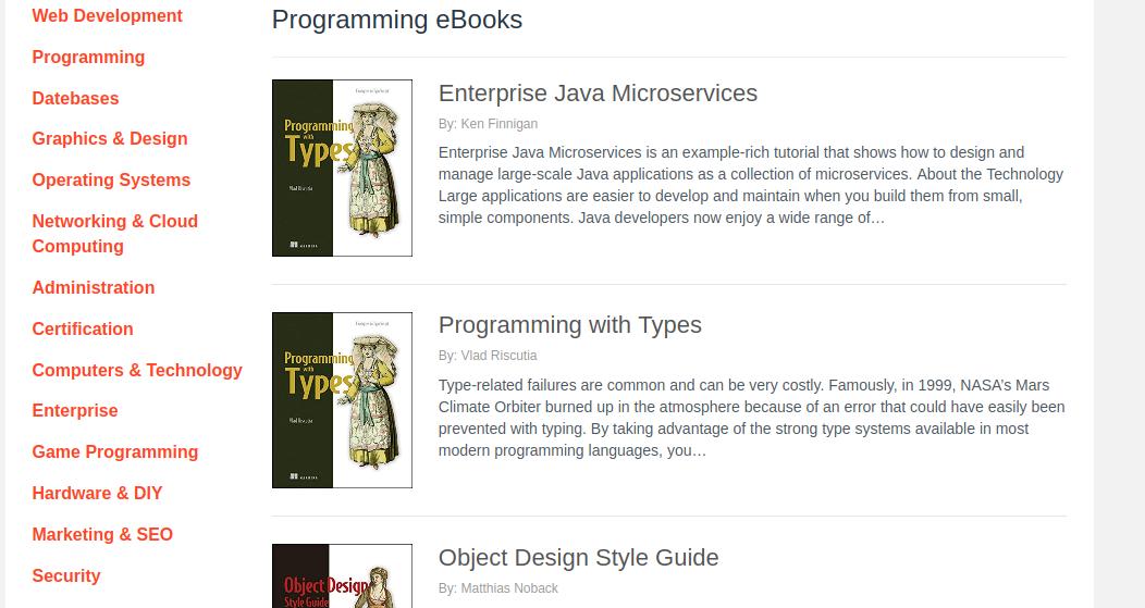 Programming PDF ebooks - AlliteBooks