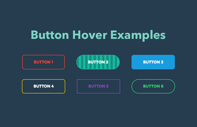 CSS buttons with hover effects