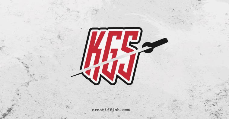 Katana Game Studio (KSG) lettermark/monogram logo design