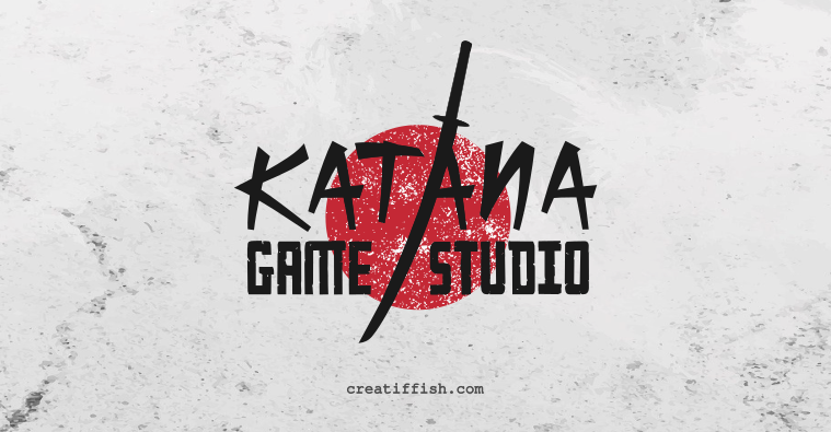 Katana Game Studio combination mark logo design