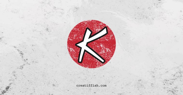 Katana Game Studio letterform or letter logo design