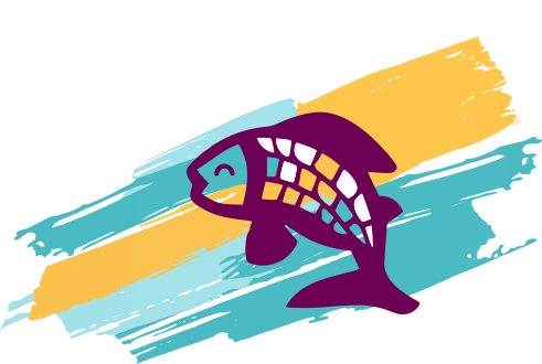 Creative fish illustration