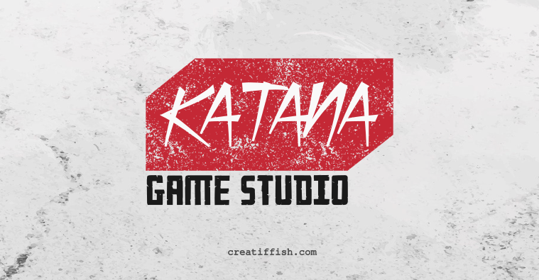 katana game studio logotype logo design