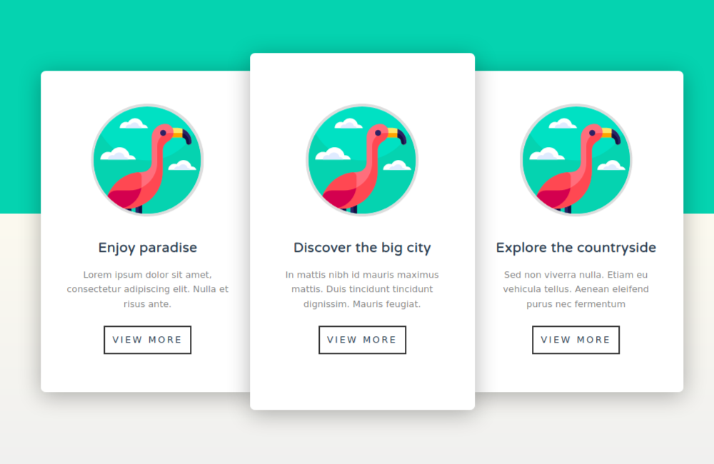 css card design tri card shadow and hover effects