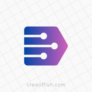 Forward technology path logo