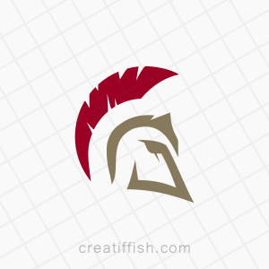 Spartan warrior fighter logo